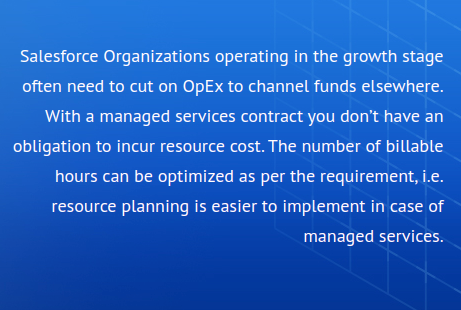 Optimizing OpEx and Accelerating Speed to Market with Salesforce® Managed Services