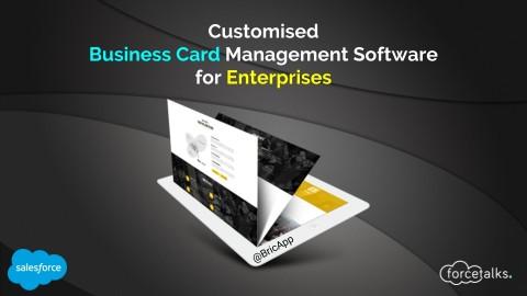 Salesforce business card reader forcetalks bric enterprise customised business card management software reheart Choice Image