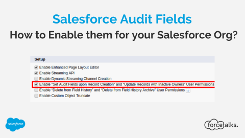 What is the use of Salesforce Audit Fields and How to Enable These fields for your Salesforce Org?