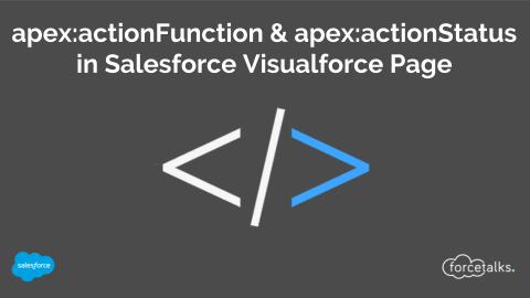 How to use apex:actionFunction and apex:actionStatus in Salesforce Visualforce Page?