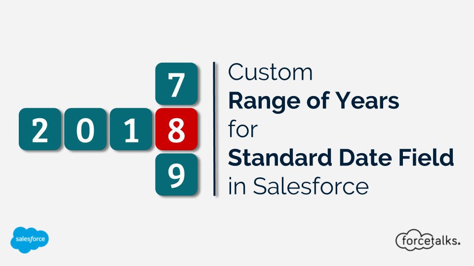"Custom ""Range of Years"" for ""Standard Date Field"" in Salesforce"