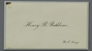 Major Henry Rathbone's Calling Card