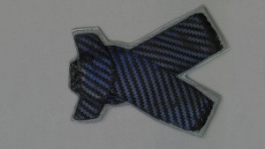 Blue and Black Striped Bowtie