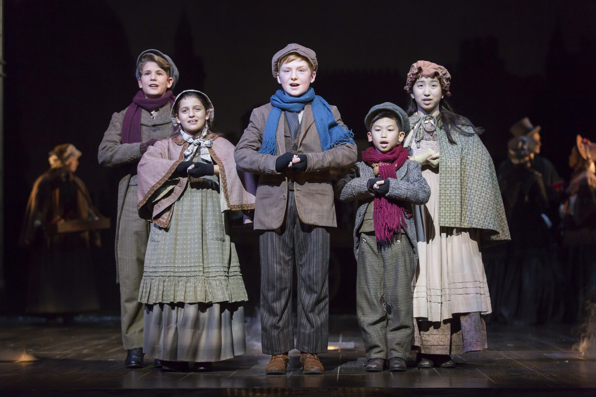 the fords theatre 2016 young company of a christmas carol photo by scott suchman