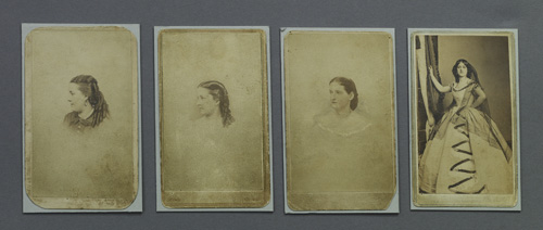 Carte De Visite Images Of Lucy Hale Alice Grey Effie Germon And Fannie Brown Fords Theatre Collection