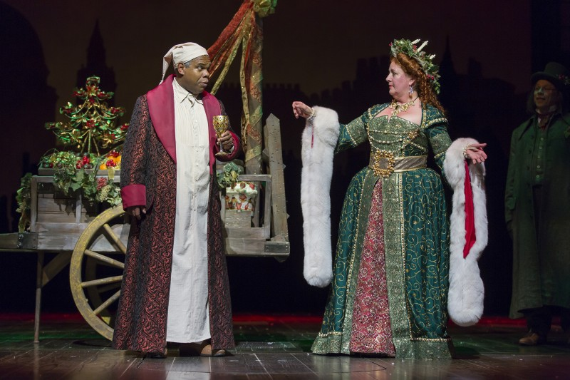 "Criag Wallace and Barbara Pinolini in ""A Christmas Carol."" Photo by Scott Suchman."