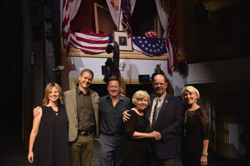 Irene Sankoff, David Hein, Kevin Tuerff, Diane and Nick Marson and Beverley Bass at Ford's Theatre.