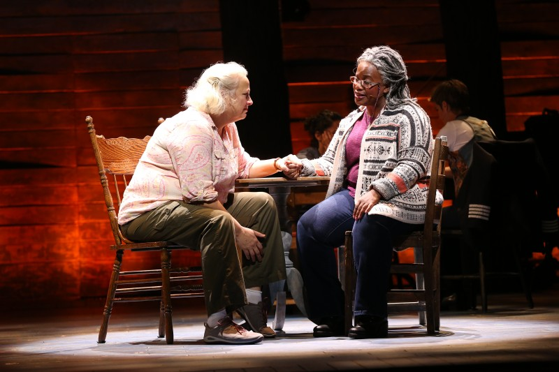 Astrid Van Wieren and Q. Smith in Come From Away at Ford's Theatre. Photo by Carol Roseeg.
