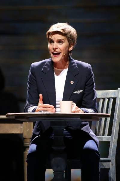 "Jen Colella as Beverly Bass in the Ford's prodcution of ""Come From Away."" Photo by Carol Rosegg."