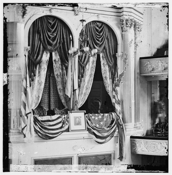 April 15, 1865 of the Presidential Box. Library of Congress, LC-B811- 3404