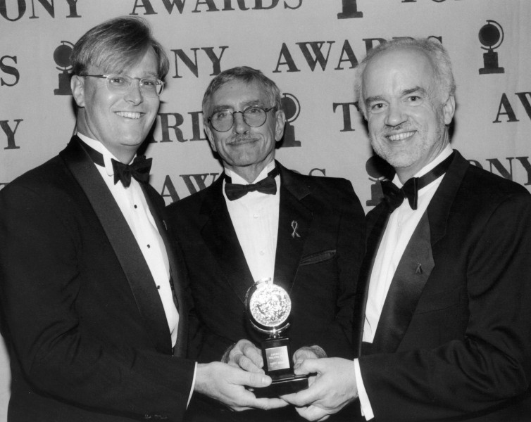 Paul Tetreault, Edward Albee and at the 1996 Tony Awards. Photo courtesy of Alley Theatre