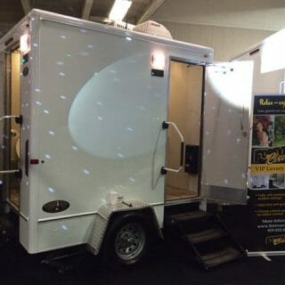 special event portable restroom trailer