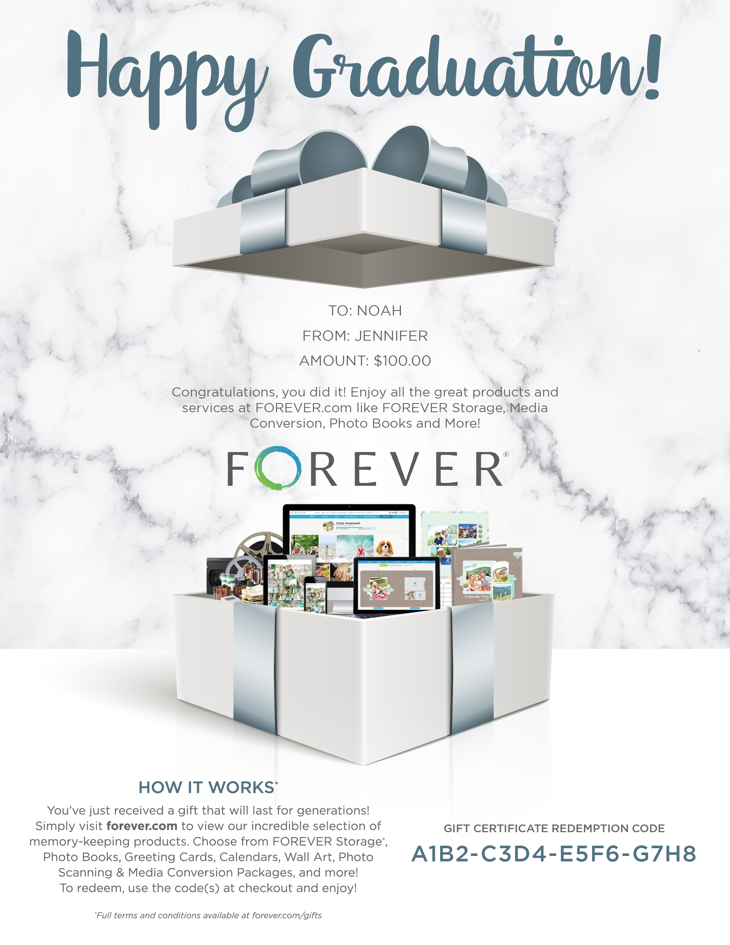 FOREVER Gift Certificate - Graduation