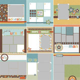 Modern Boy Predesigned Pages 12x12
