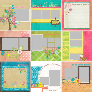 Easter Fun Predesigned Pages 12x12