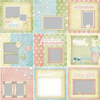Baby Birdies Predesigned Pages 12x12