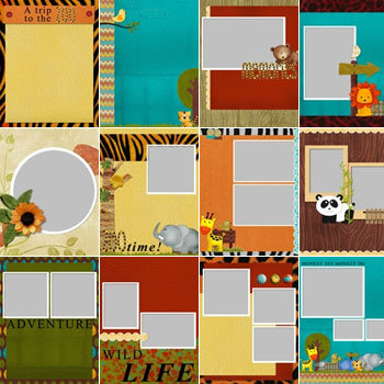 Cute Safari Predesigned Pages 8.5x11