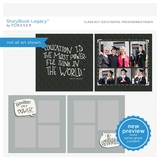 Class Act 12x12 Digital Predesigned Pages