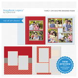 Family Life 12x12 Predesigned Pages