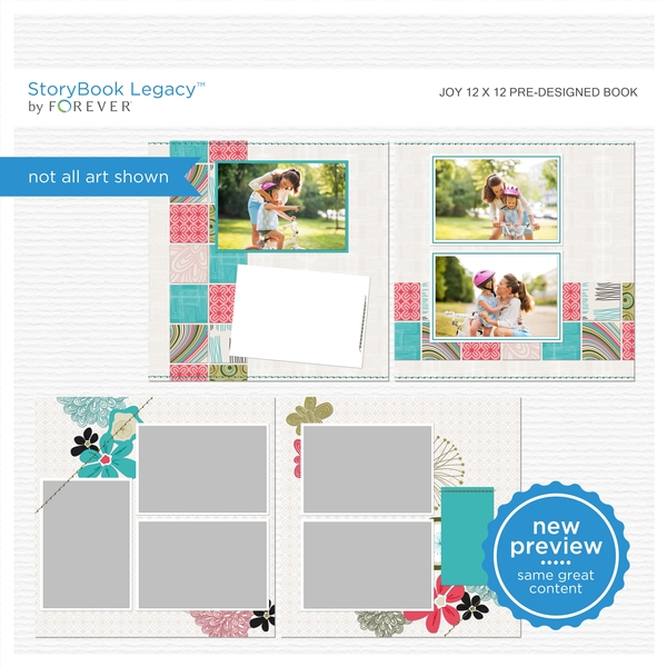 Joy 12x12 Predesigned Book Digital Art - Digital Scrapbooking Kits
