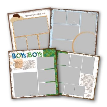 Rugged All Boy 12x12 Predesigned Pages