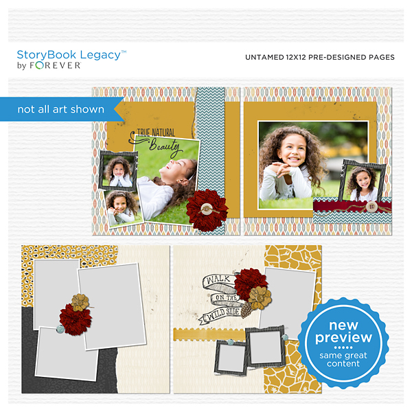 Untamed 12x12 Predesigned Pages