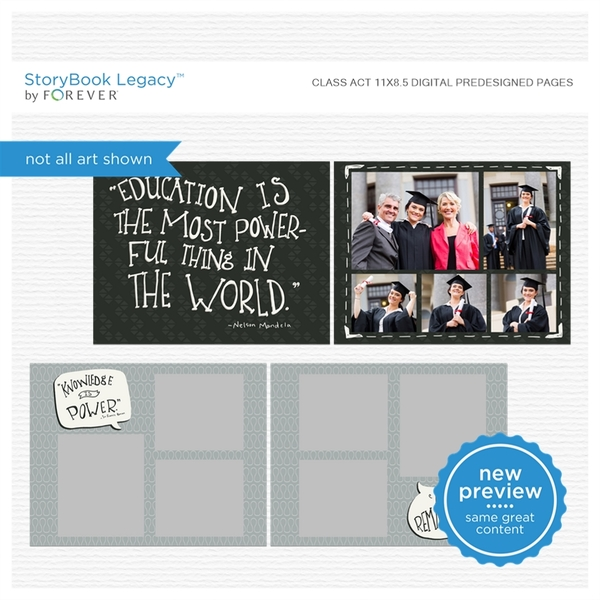 Class Act 11x8.5 Digital Predesigned Pages