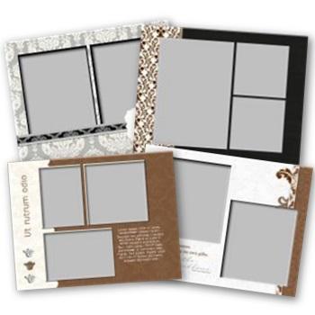 Divine 11x8.5 Predesigned Pages Digital Art - Digital Scrapbooking Kits