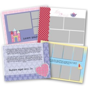 Fabulous All Girl 11x8.5 Predesigned Pages