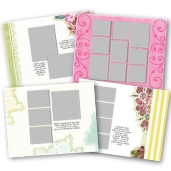 Simply Said Love 11x8.5 Predesigned Pages
