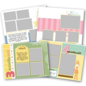Simply Fabulous Baby's First Year 11x8.5 Predesigned Pages