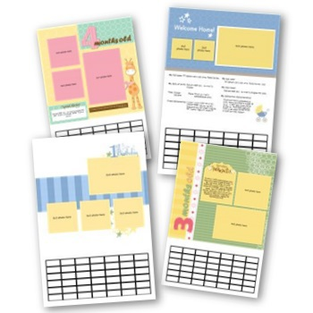 Simply Fabulous Baby's First Year 12x18 Calendar Predesigned Pages