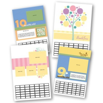 Simply Fabulous Baby's First Year 8x12 Calendar Predesigned Pages