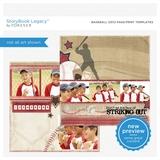 Baseball 12x12 Page Print Templates