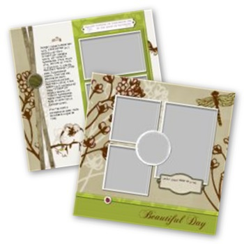 Beautiful Day 12x12 Page Print Templates