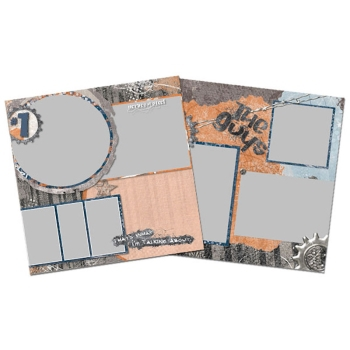 Buds 12x12 Page Print Templates