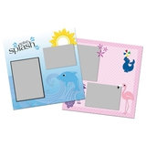 Cheerful Zoo Dolphin 12x12 Page Print Templates