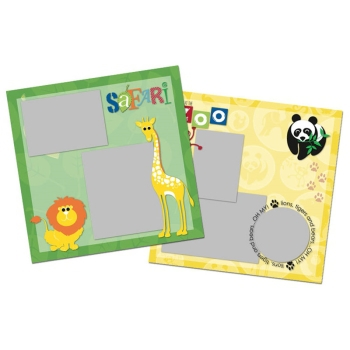 Cheerful Zoo Lion 12x12 Page Print Templates