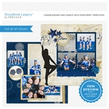 Cheerleading And Dance 12x12 Page Print Templates
