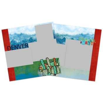 City Streets Of Denver 12x12 Page Print Templates
