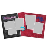 City Streets Of Memphis 12x12 Page Print Templates