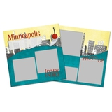 City Streets Of Minneapolis 12x12 Page Print Templates