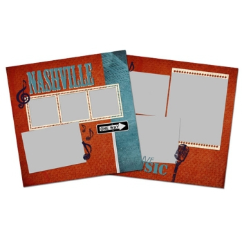 City Streets Of Nashville 12x12 Page Print Templates