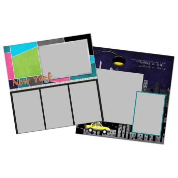 City Streets Of New York 12x12 Page Print Templates
