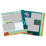 City Streets Of Washington 12x12 Page Print Templates
