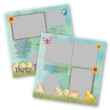 Easter Kids 12x12 Page Print Templates