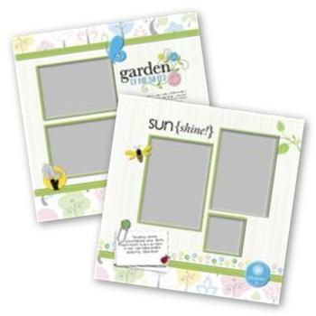 Garden Fresh 12x12 Page Print Templates