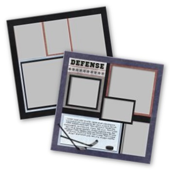 Hockey 12x12 Page Print Templates