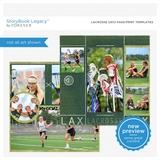 Lacrosse 12x12 Page Print Templates