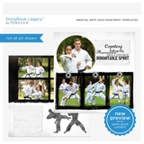 Martial Arts 12x12 Page Print Templates
